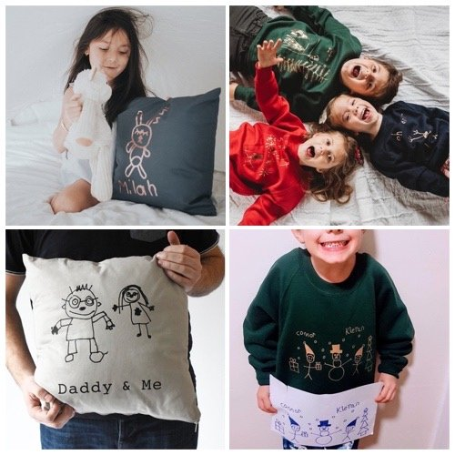 Gorgeous gifts made from your children's drawings