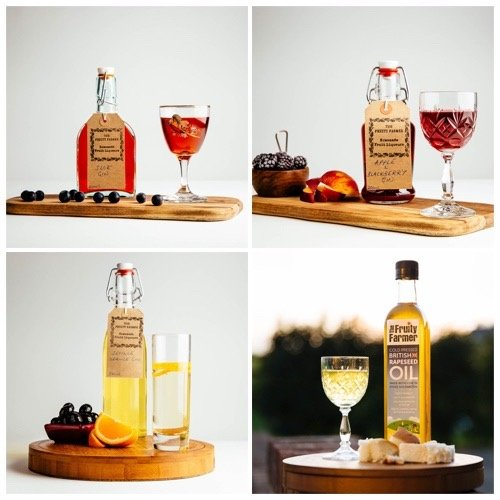 local fruit gins and liqueurs, and cold-pressed rapeseed oil all made in milton keynes
