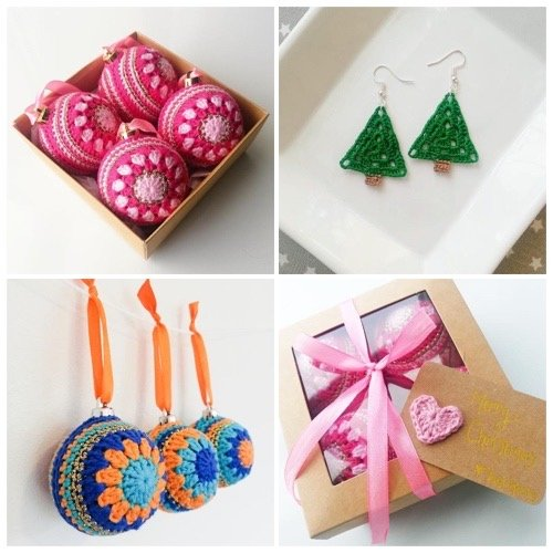 crochet christmas decorations and jewellery in milton keynes