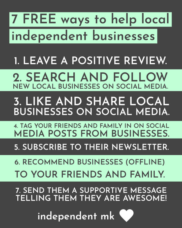 7 ways to support independent businesses for free